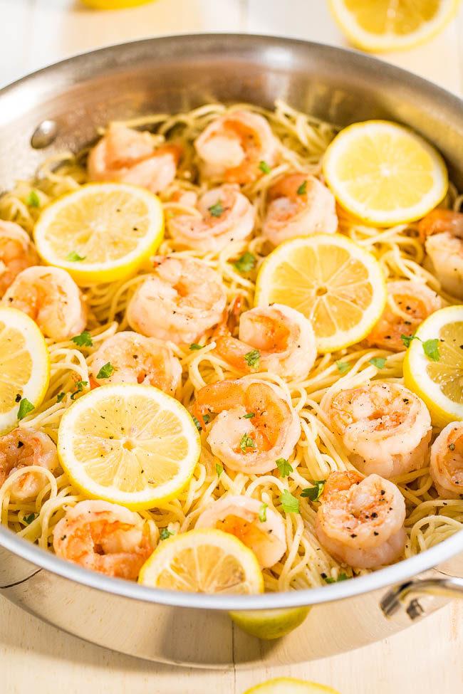 Lemon butter seafood pasta recipe
